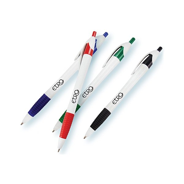 Promotional Rubber Grip Click Ballpoint Pen