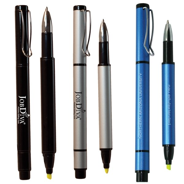 Promotional Recycled Aluminum Pen - Black, Silver or Blue