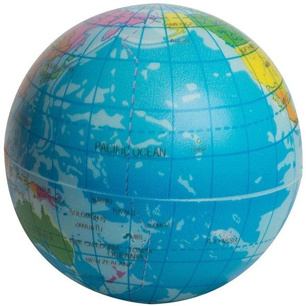 Promotional Printed Globe PU Ball 3 - Stress reliever