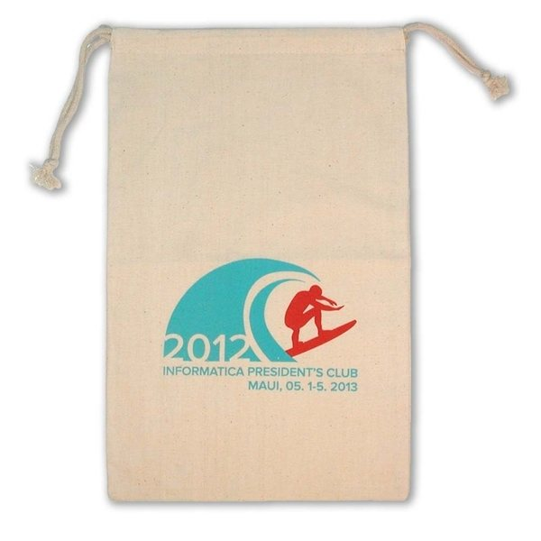 Promotional Weedy 100 Natural Cotton Drawstring Bag -10x16