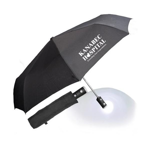 Promotional 43 Auto Open and Close Umbrella Flashlight with Case