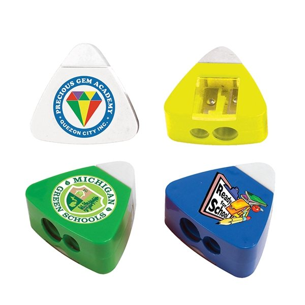 Promotional The Triad Eraser Sharpeners, Full Color Digital