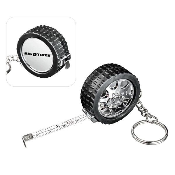 Promotional Tire Measuring Key Chain