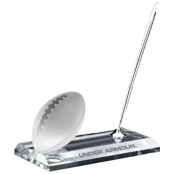 Promotional Crystal Football Pen Stand Set