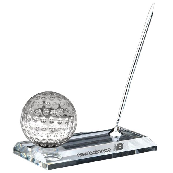 Promotional Crystal Golf Pen Stand Set