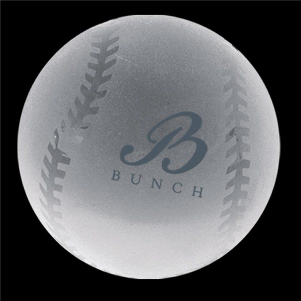 Promotional Crystal Baseball Paperweight