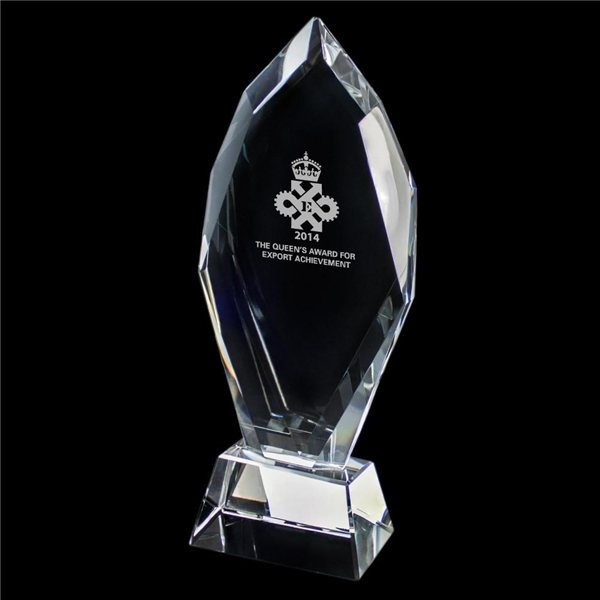 Promotional Crystal Trophy (Small Flame)