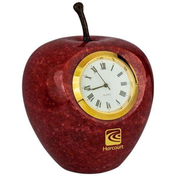 Promotional Marble Apple Clock
