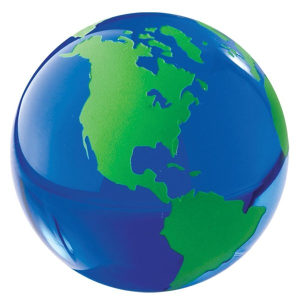 Promotional Green Glass Globe Paperweight