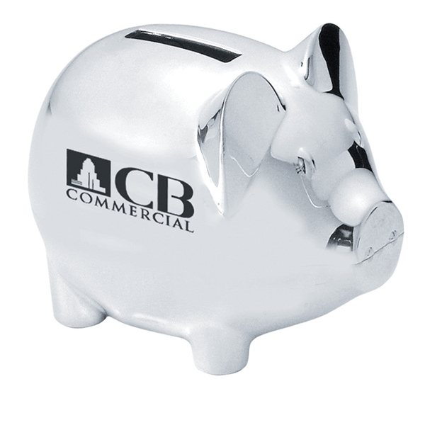 Promotional Silver Plated Piggy Bank