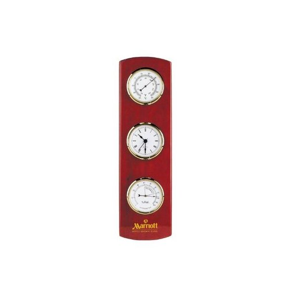 Promotional Wooden Wall Weather Station Clock