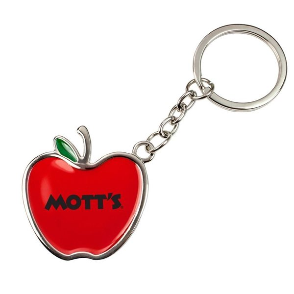Promotional Apple Keychain