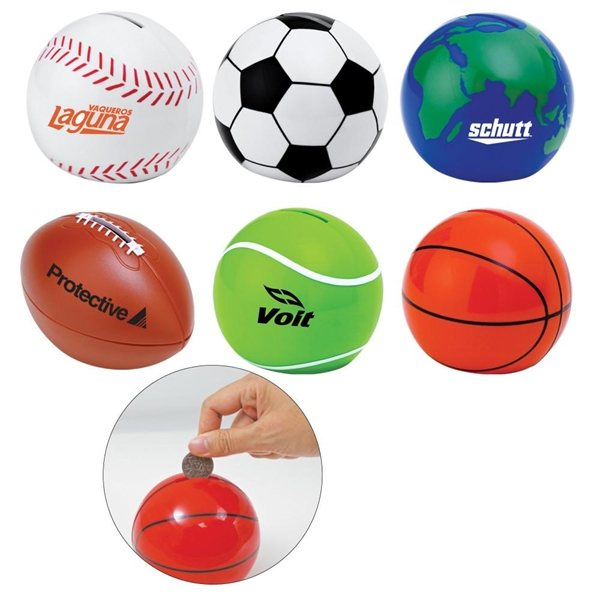 Promotional Sport Ball Coin Bank
