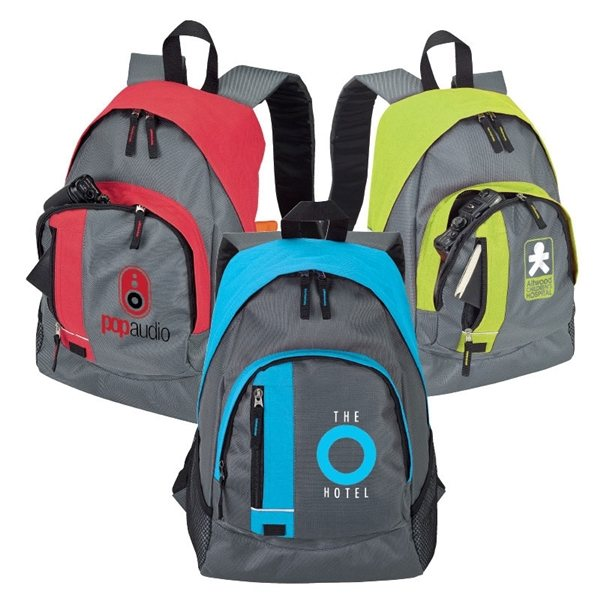 Promotional Mesh / Poly Trivalent Backpack