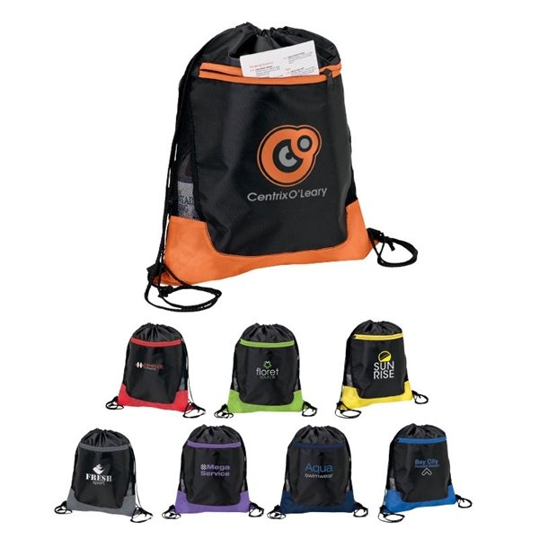 Promotional 210D Polyester Clermont Sport Bag 14 W x 17.75 H