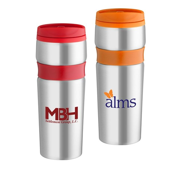 Promotional 14 oz Easy Grip Stainless Travel Tumbler
