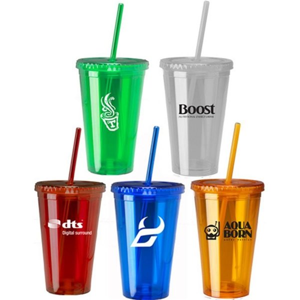 Promotional 16 oz Insulated Acrylic Tumbler