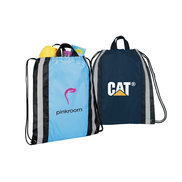 Promotional Small Reflective Drawstring Backpack