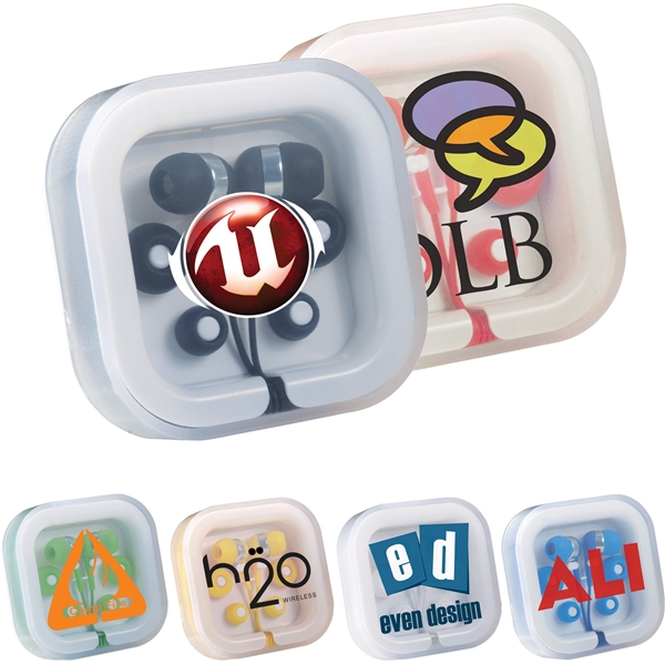 Promotional Color Pop Earbuds In Case