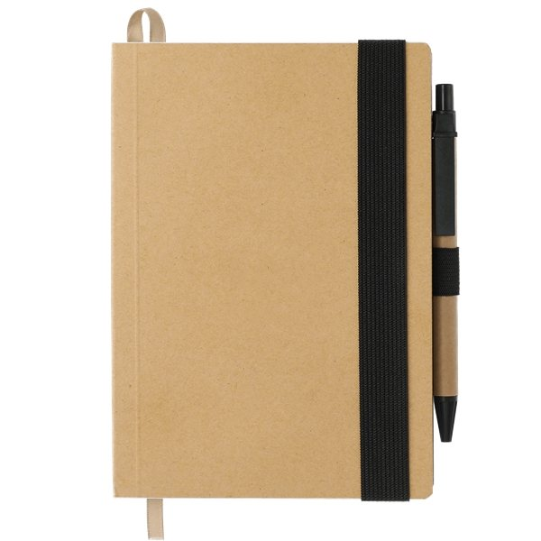Promotional 5.5x 7 Eco Perfect Bound Notebk w / Pen
