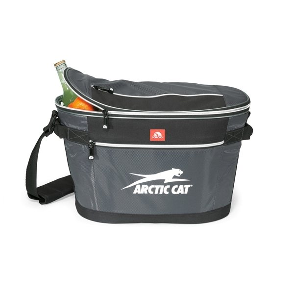 Promotional Igloo(R) Party to Go Cooler - Gunmetal Grey