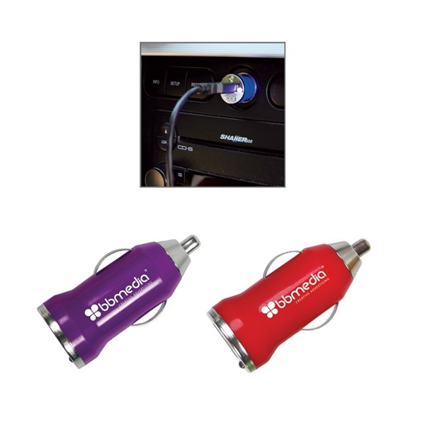 Promotional Usb Car Charger In Multiple Color Choices
