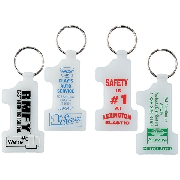 Promotional Glow in the Dark Number 1 Key Tag