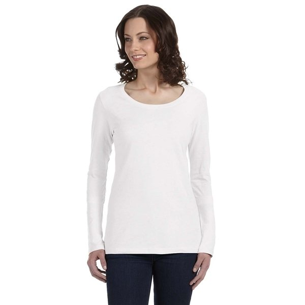 Promotional ANVIL(R) Featherweight Long - Sleeve Scoop T - Shirt