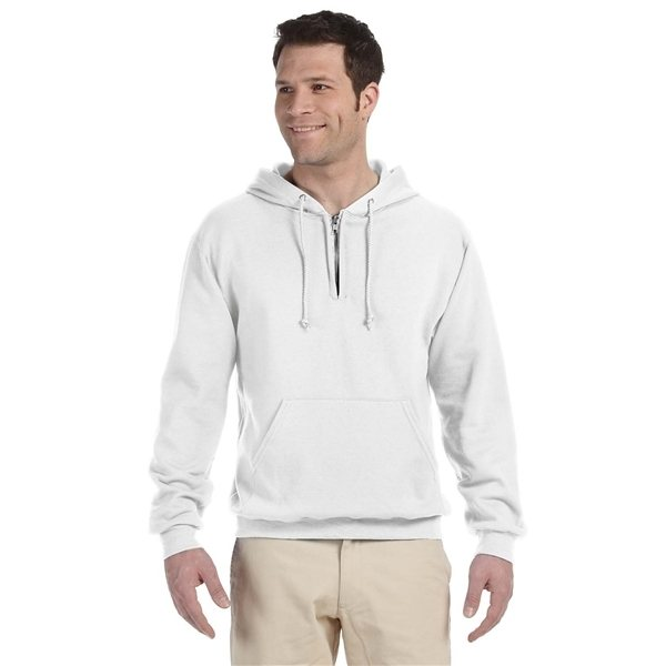 Promotional JERZEES(R) 8 oz NuBlend(R) Fleece Quarter - Zip Pullover Hood