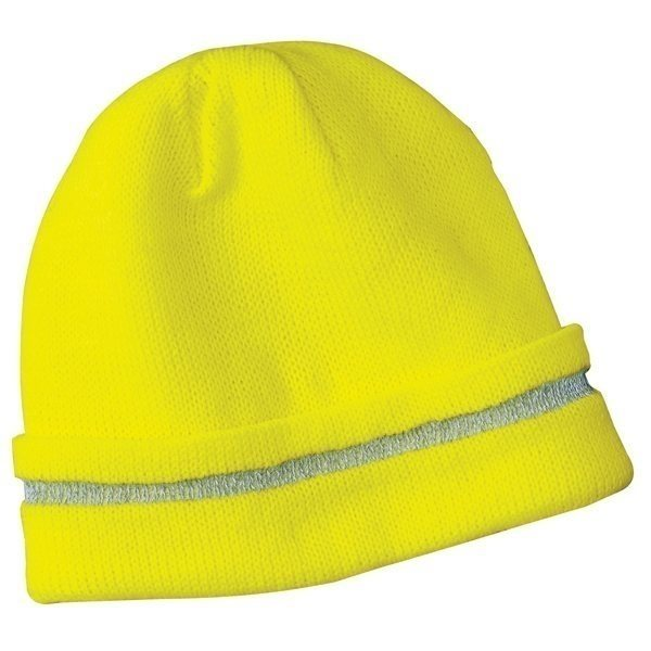 Promotional CornerStone Safety Beanie with Reflective Stripe