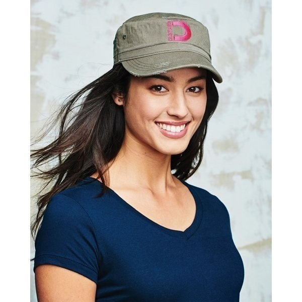 Promotional District Distressed Military Cap