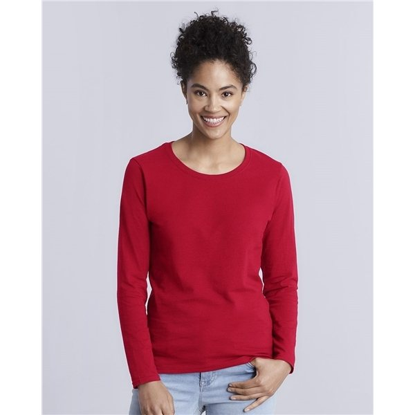 Promotional Gildan Heavy Cotton Missy Fit Long Sleeve T - Shirt