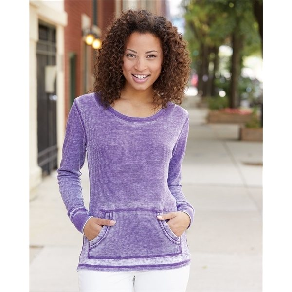 Promotional J. America Ladies Zen Thermal Long Sleeve T - Shirt