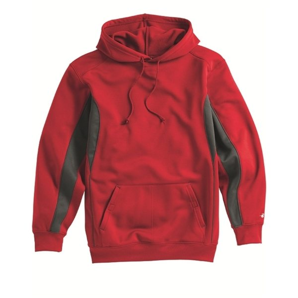 Promotional Badger Drive Polyester Fleece Hooded Pullover