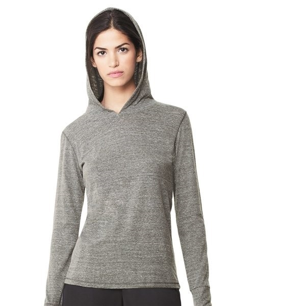Promotional alo Ladies Triblend Long Sleeve Hooded Pullover