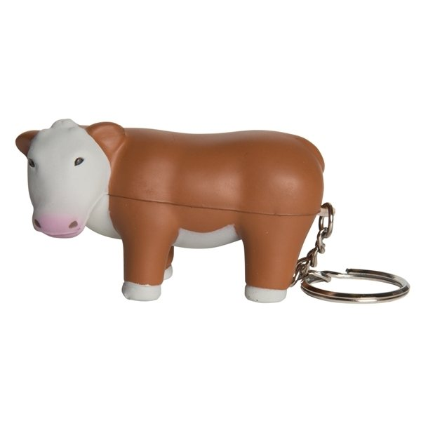 Promotional Steer Squeezie Keyring - Stress reliever