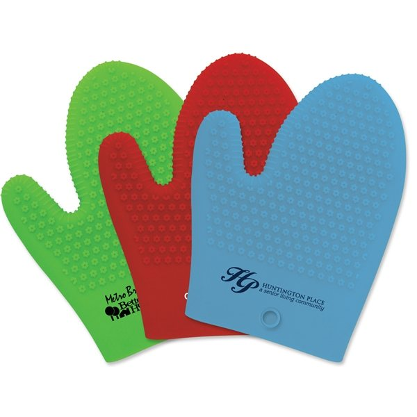 Promotional Therma - Grip Silicone Oven Mitt