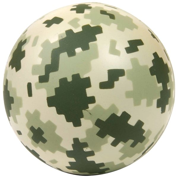 Promotional Digital Camouflage Round Stress Reliever
