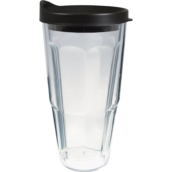 Promotional 24 oz Thermal Travel Tumbler with Clear Printed Insert