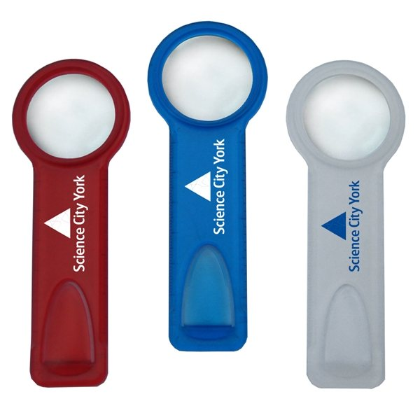 Promotional 3- In -1 Bookmark Magnifier
