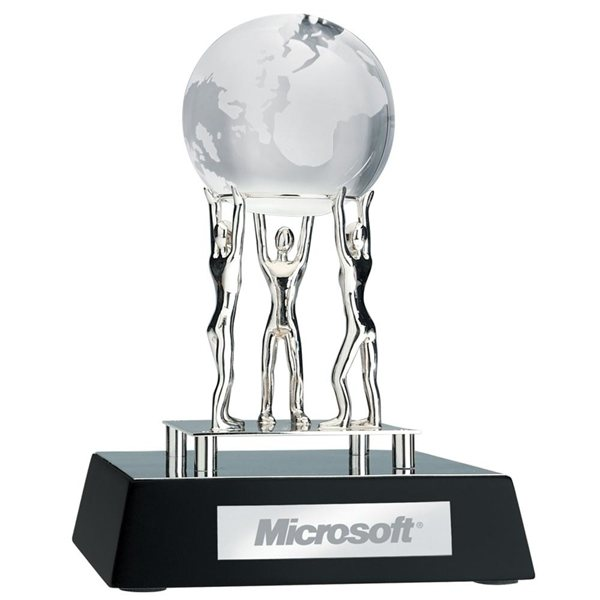 Promotional Together We Can Award W / Clear Globe