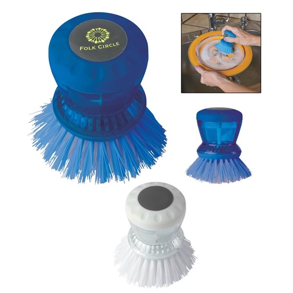 Promotional Kitchen Scrub Brush with Soap Reservoir