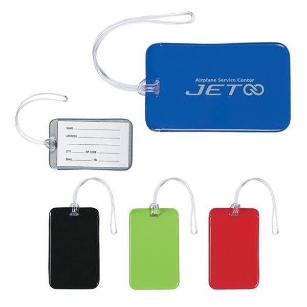 Promotional Vinyl Journey Luggage Tag 4.5 W x 2.75 H
