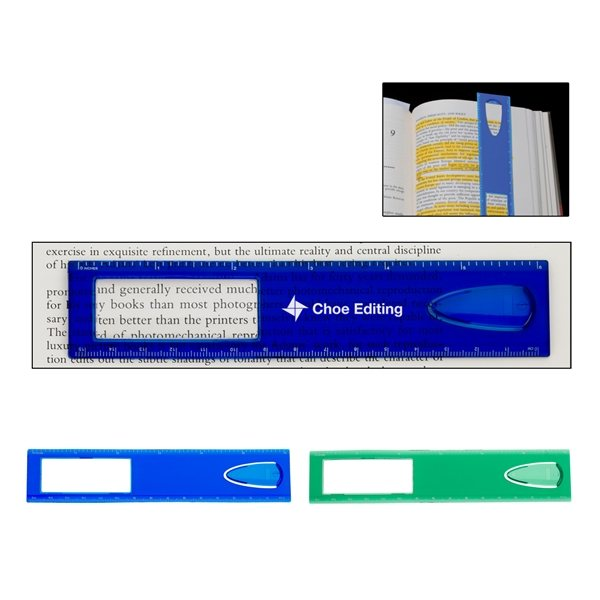 Promotional 6 Magnifier Ruler With Bookmark