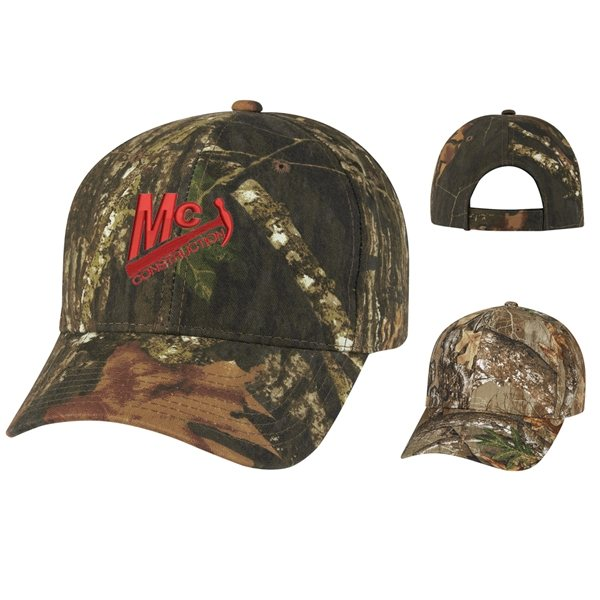 Promotional Realtree(TM) And Mossy Oak(R) Hunters Retreat Camouflage Cap