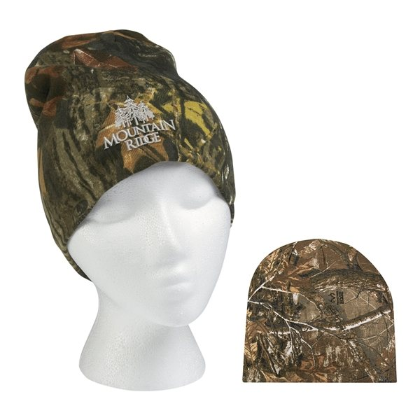 Promotional Realtree (TM) And Mossy Oak (R) Camouflage Beanie
