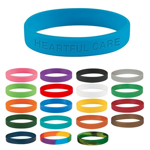 Promotional Single Color Silicone Bracelet