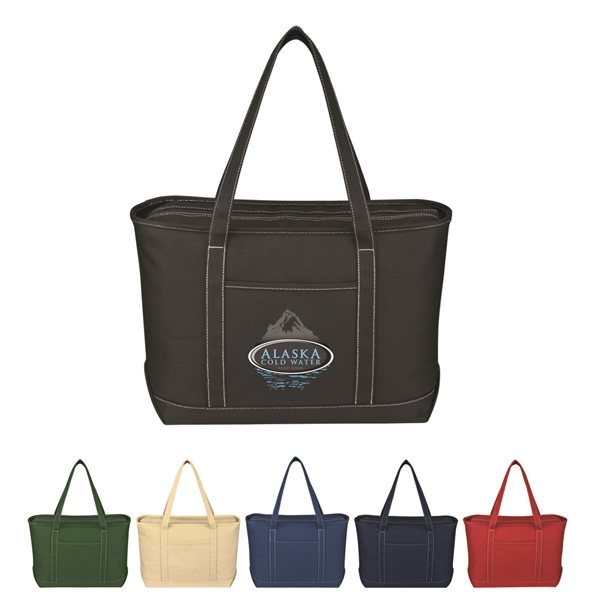 Promotional Large Cotton Canvas Yacht Tote Bag