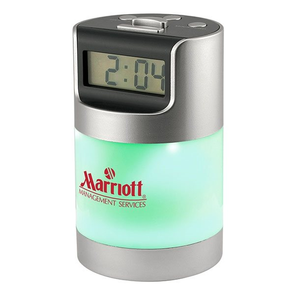 Promotional Talking LCD Alarm Clock with Desk Light