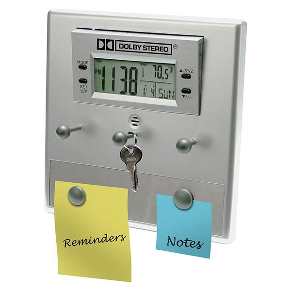 Promotional LCD Alarm Clock and Desktop Office Assistant